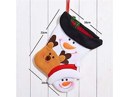 DOOUYTERT Navidad Feliz Calcetines de Navidad de Dibujos Animados Bolso de Regalo de Bolsa de Dulces
