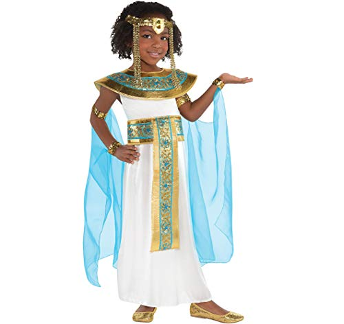 Amscan Girls Shimmer Cleopatra Costume - Small (4-6) -