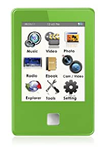 MP4 Player, Ematic E8 Series 4GB Green MP4 Player [ EM804VIDG ]