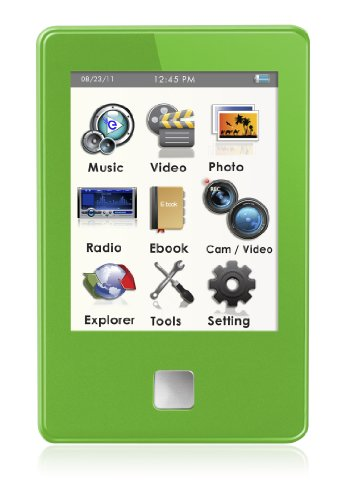 MP4 Player, Ematic E8 Series 4GB Green MP4 Player