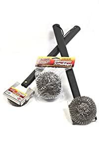 grill wizard This economical tool wizard grill brush by the tool wizard is the best value available in grill brushes utilizing stainless steel woven mesh scrubbing pads these woven mesh scrubber pads will clean your grill better than any other design.