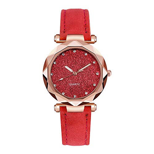 Pengy Women's Rhinestone Rose Gold Watch with Analogue Display and Bracelet Ladies Fashion Quartz Watch