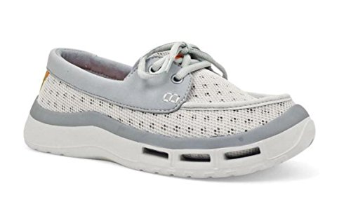 SoftScience The Fin 2.0 Women's Fishing/Boating Shoes - Light Gray, Size 7