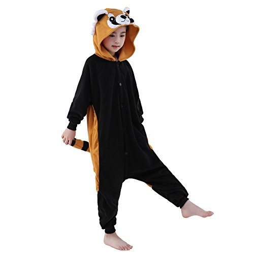 Halloween Unisex Children Raccoon Pajamas Costume