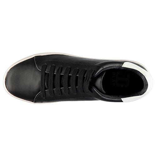 Jeffrey Campbell Play Stan Leder Look Turnschuhe Damen BLK/WH Sneakers Schuhe