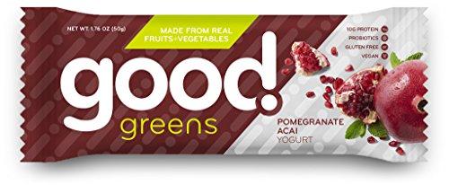 [Pomegranate Acai Yogurt Protein Bars, Gluten-Free, Dairy-Free & Vegan (12 Bars) - Great Source of Fruits & Veggies, Plant-Based Proteins, Probiotics & Fiber | Good!] (Halloween Cupcakes Frosting Recipe)