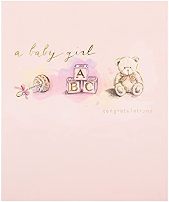Hallmark - Tarjeta de felicitación por nacimiento de niña, tamaño ...