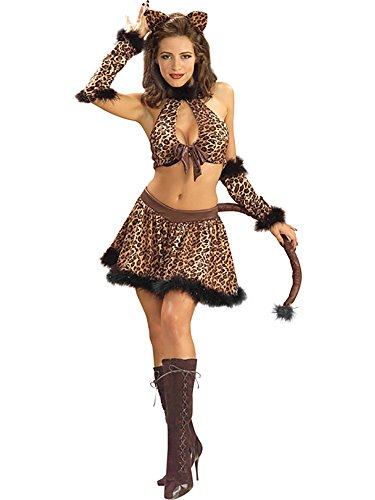 (BOS Adult Sexy Luscious Leopard Costume Size: Women's X-Small 2-4 )