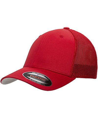 Maddmax Car Art 1957-1959 Ford Ranchero Truck Classic Outline Design Flexfit Trucker Hat Cap red ()