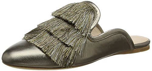 Rachel Zoe Kaius Flat Fringe, Chaussons Mules Femme Or (Old Gold 718)