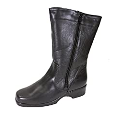9cf4cb6795f FIC Maya Women Wide Width Leather Dual Side Zip Mid Calf Boot (Size    Measurement