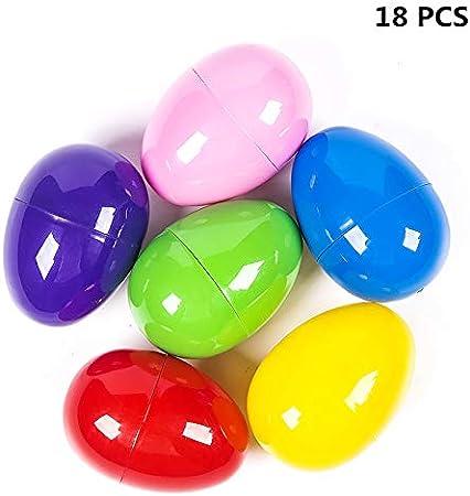 Jrancc Huevos de Plástico 12 Pack Juguetes Huevos Multicolor ...