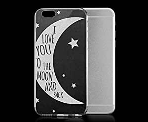 Light weight with strong PC plastic case for iphone 4 4s Art Love To The Moon And Back