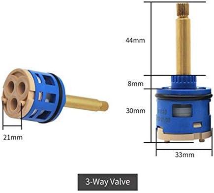 Yitang バルブのバスルームを混合弁ミキサーシャワーバーをタップバスをミキシング2/3/4/5方法真鍮ABSシャワー蛇口コラムセラミックディスクカートリッジ (Color : 3way long blue)
