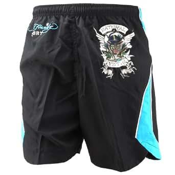 Ed Hardy Bulldog Woven Shorts - Black - Medium