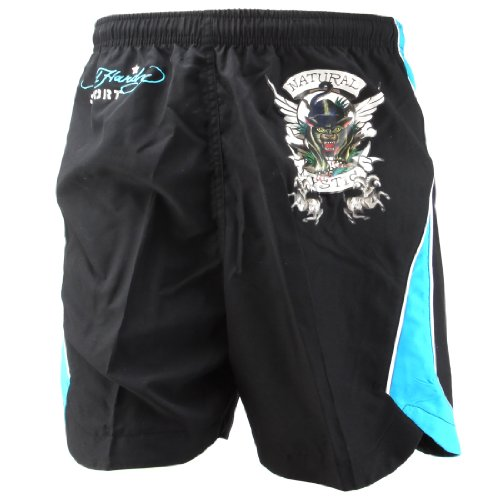 Ed Hardy Bulldog Woven Shorts - Black - Medium