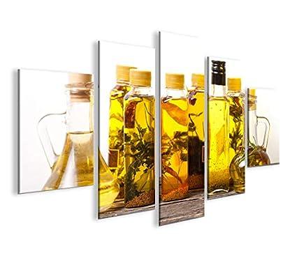 Quadro moderno cocción botellas de aceite de oliva Cocina ...