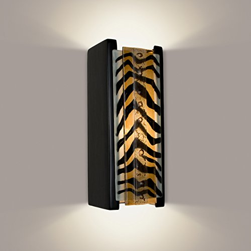 ReFusion Safari 1 Light Wall Sconce Finish: Matador Black Gloss and Zebra Caramel
