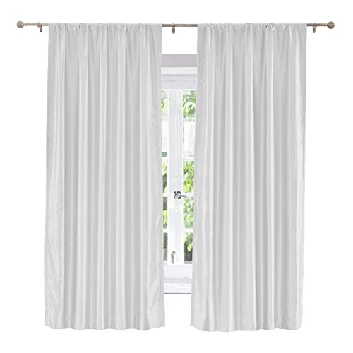 Sahara Curtain Cotton - ChadMade Soundproof Energy Saving Polyester Cotton Silk Solid Curtain Egg White 120