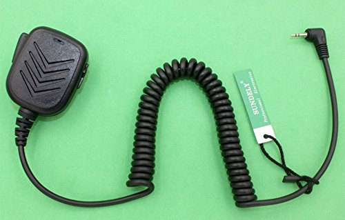 SUNDELY Hand Held Shoulder Mic with Speaker for Cobra Micro-Talk 2 Two Radio Walkie Talkie 1-pin