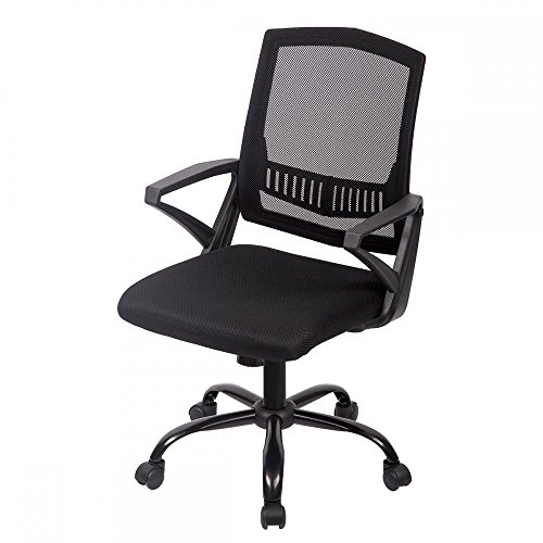 Mid Back Mesh Ergonomic Computer Desk Office Chair, Black, One Pack by BestOffice