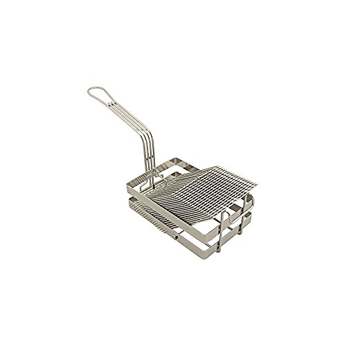 FMP 226-1062 Nickel / Chrome-Plated 18 Slot Tostada Basket by Franklin Machine Products