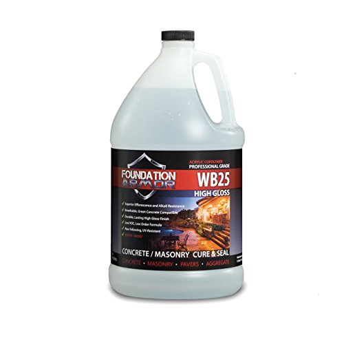 (1 GAL. Armor WB25 Water Based High Gloss Acrylic Cure and Seal for New Concrete, and Existing Concrete and Pavers )