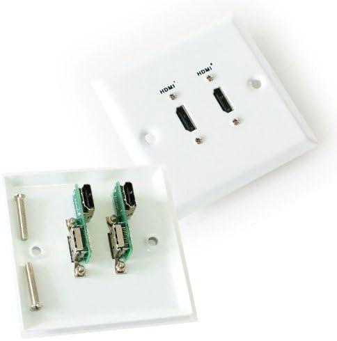 2 HDMI hembra doble/doble para toma de placa de pared: Amazon.es: Electrónica
