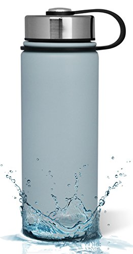 MIRA 18 Oz Stainless Steel Vacuum Insulated Wide Mouth Water Bottle | Thermos Keeps Cold for 24 hours, Hot for 12 hours | Double Walled Powder Coated Travel Flask | Light Blue