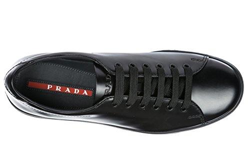 cdaf9e631fff Prada Herrenschuhe Herren Leder Schuhe Sneakers Schwarz ...