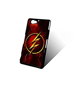 Custom Sony Z2 Compact Funda Case For Boys, The Flash logo DC Comics New Style With Plastic Material & Ultra Thin Design Finish Protect Your Moblie Phone(Sony Xperia Z2 Compact)