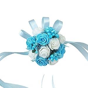 Wildgirl Wedding Bridesmaid Bride Prom Bridal Wrist Corsage Hand Flower Bracelet 40