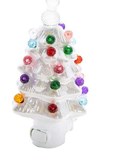 ReLIVE - White Pearlized Ceramic Christmas Tree Night -