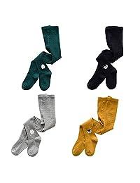 YANN Baby Girls Tights Toddler Tights Leggings Pantyhose Stockings Kids Infant (4 Pairs)