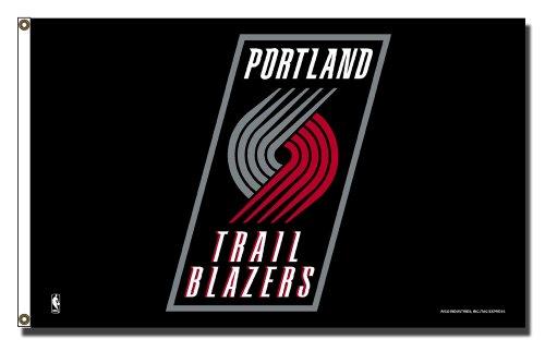 NBA Portland Trailblazers Banner Flag 3-Foot by 5-Foot