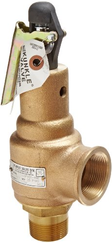 Kunkle 6010DCE01-AM0100 Bronze ASME Safety Relief Valve for Steam 100 Preset Pressure EPR Soft Seat 1//2 NPT Male Inlet x 3//4 NPT Female Outlet