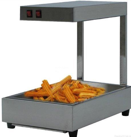 Commercial électrique espagnol Donuts Churros Warmer Vitrine avec bac en acier inoxydable 220V Baoshishan HUK2079