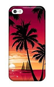 Cynthaskey Fashion Protective Magneta Sunset For Case Ipod Touch 4 Cover