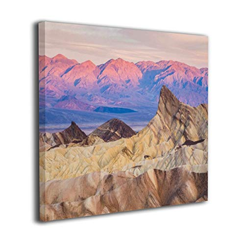 Yanghl Canvas Wall Art Prints Sunrise at Zabriskie Point in Death Valley National Park Modern Decorative Artwork for Wall Decor and Home Decor Framed Ready to Hang 20