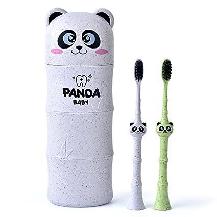Cepillo de dientes de viaje, cepillo de dientes de panda de dibujos animados, cepillo