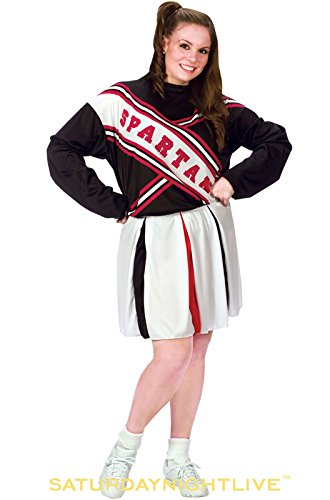 Female Spartan Cheerleader Costumes (SNL Spartan Cheerleader - Plus Size 1X/2X - Dress Size 16-20)