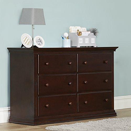 Suite Bebe Riley 6 Drawer Double Dresser, Espresso by Suite Bebe