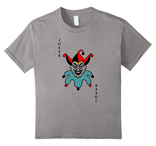 Kids Joker Playing Card Costume Shirt - Old Joker 4 Slate (Playing Card Joker Costume)