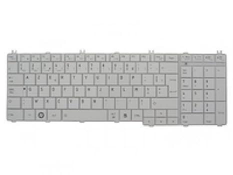 Toshiba H000029120 - Teclado para ordenador portátil, color blanco: Amazon.es: Informática