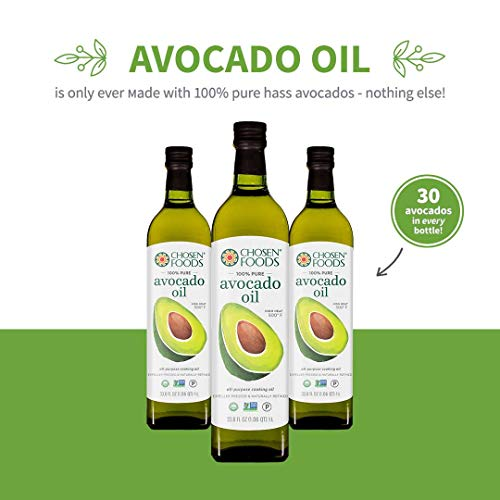 Chosen Foods 100% Pure Avocado Oil 1 L (5 Pack), Non-GMO, for High-Heat Cooking, Frying, Baking, Homemade Sauces, Dressings and Marinades by Chosen Foods (Image #3)