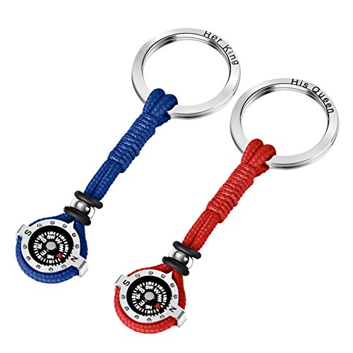 Novelty Compass Keychain for Outdoor Enthusiast, Stylish & Practical, Quality Compass for Hiking, Camping, Luxurious Packaging, Outdoor Gift for outdoorsman, Gift for Hikers, Campers, for Backpackers by DAYHAO (Image #6)