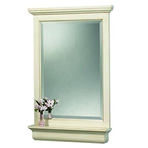 Pegasus CTAM2838 Cottage 28-Inch Mirror, Premium Antique White - Cottage Vertical Mirror