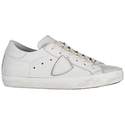 Paris Nuove in Philippe Sneakers Model Pelle Scarpe Donna Bianco qOYw0w
