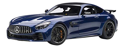 Mercedes AMG GT R Brilliant Blue Metallic with Carbon Top 1/18 Model Car by Autoart 76334