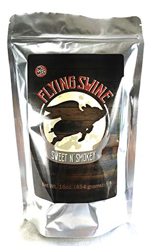 Flying Swine Sweet N' Smokey - Great For a Butt Rub, Seasoning, Grilling, Smoking Meats, Ribs, Brisket, Chicken, Pork